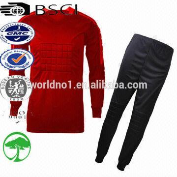 ada270d37f3 China custom design Football Long Sleeve Goalkeeper set