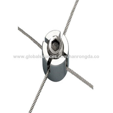 China Stainless Steel Cross Wire Clamp, Wire Rope Trellis Cross Clip ...