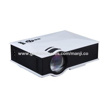 China 2017 New Wi-Fi Projector, UC46/UNIC/1200 Lumens Best Small 800*480/VGA/HD/Wi-Fi/LED Projector UC46