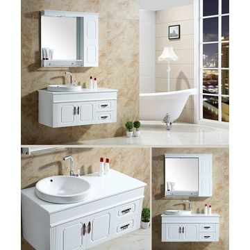 Simple European Pvc Bathroom Cabinets