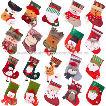 ... China Custom christmas decorations mini christmas stocking socks gift