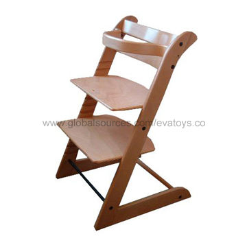 china 2013 new and popular wooden baby high chair from wenzhou