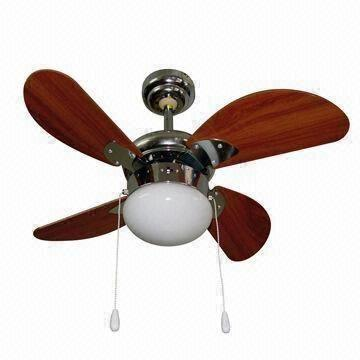 decorative ceiling fan with six blades and one lights/lamps for