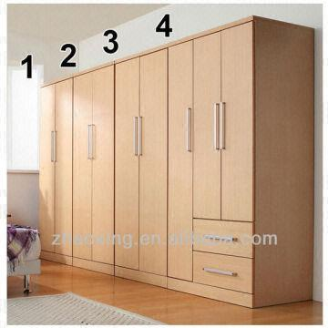 ... China Solid Design Mdf Wooden Bedroom Furniture Closet/wardrobe  Certificate