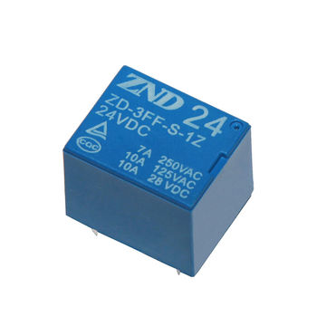 China 3FF(T73) 7A 24V 5Pin Silver Contact Blue Cover Electromagnetic Relay