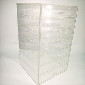 Clear Plastic Acrylic Cosmetic Storage Box China Clear Plastic Acrylic  Cosmetic Storage Box