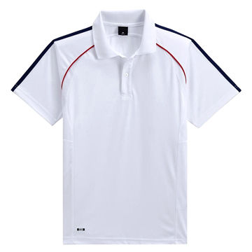 bb12c2f3c China Dry fit men's sports top, polo shirt design, made of white polyester  pique ...