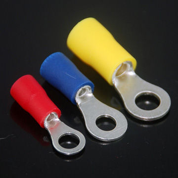 12-10 YELLOW NYLON RING TERMINAL #4 100 #6 ELECTRICAL CONNECTOR MADE IN USA