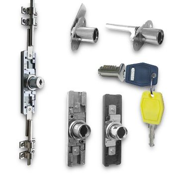 ... China File Cabinet Lock Kit, Made Of Zinc Alloy, With Two One Bit