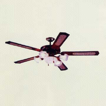 taiwan 52 inch decorative ceiling fan with 5 wooden blades and 5 lights - Decorative Ceiling Fans