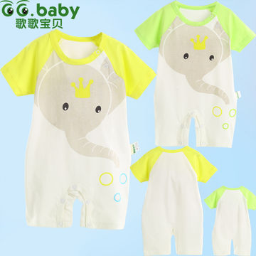 e2fe7f35d Unisex Baby Rompers Babies Summer Newborn Infant Baby Clothing Short ...