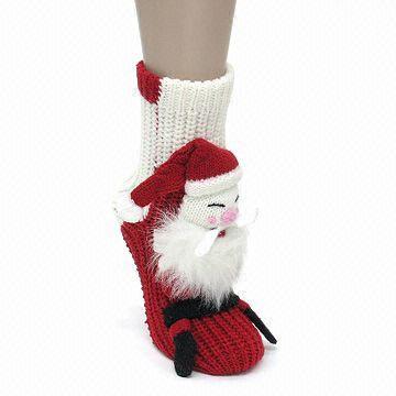 Christmas Slipper Socks for Women, Made of Acrylic Material ...