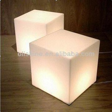 China Cube Furniture Lighted/led Cube Seat Lighting