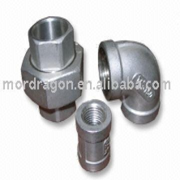 Stainless Steel Pipe Fittings Material:ss304 and ss316 size:1/8'-4