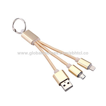China 2 In 1 Keychain Nylon Braided Usb Cable From Shenzhen Trading