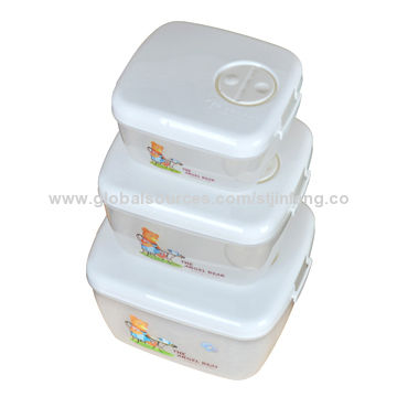 Plastic fridge storage containers 3pcs set largemediumsmall