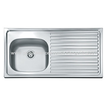 Chinakitchen Sink Stainless Steel Sink One Step Forming Single Bowl With Drain Board Bl930l On Global Sources