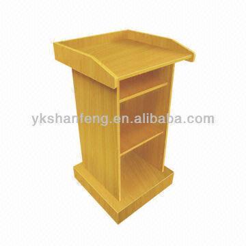 China Wooden/MDF/melamine Flakeboard Speaker Podium/teacher Dais/platform