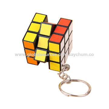 China Magic cube keychain, magic cube keyring, 3-D