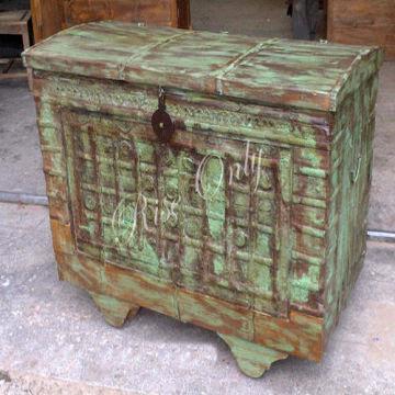 India Wooden Antique Storage Box