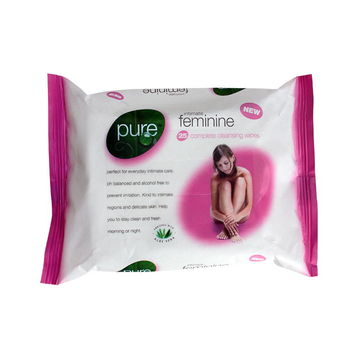 China OEM/ODM feminine personal hygiene cleaning wet wipe