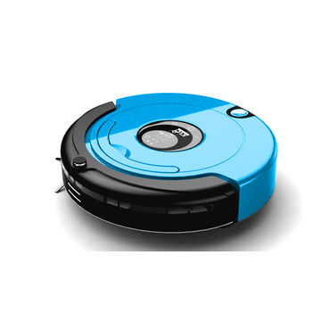 China XR210 robotic vacuum cleaner with large LCD touch screen and good cleaning function
