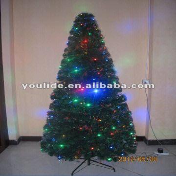 china 210cm pvc fibre optic twig christmas tree wth led