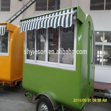 China Hot Sale High Quality Mobile Coffee Cart For Food Trailer Fast Kiosk YS