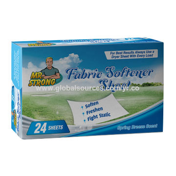 Use fabric softener and dryer sheets