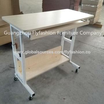 Plywood And Metal Computer Desk School, Computer Desk Wheels