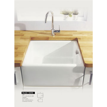 ... China Ceramic wash basin counter top fixing kitchen sink  sc 1 st  Global Sources & Ceramic wash basin counter top fixing kitchen sink | Global Sources