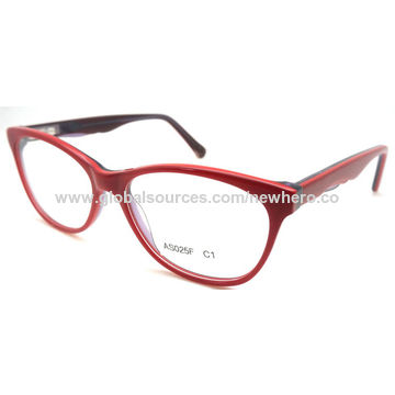 China Square shape fancy color acetate optical frame from Wenzhou ...