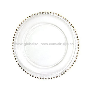 Gold Beaded Couture Charger Plate  sc 1 st  Global Sources & Wholesale gold-rimmed china dinner plates White bone china porcelain ...