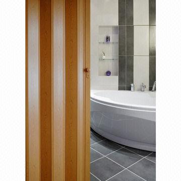 Vera PVC Folding Door with 124mm Panel Width and 12mm Panel ...