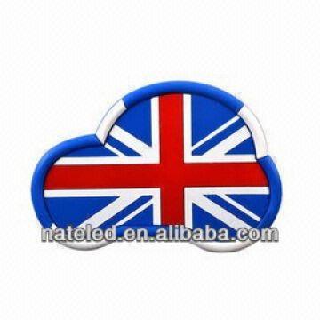 Cheap And Cute Car Style Pvc Car Non Slip Dashboard Mat With Flag