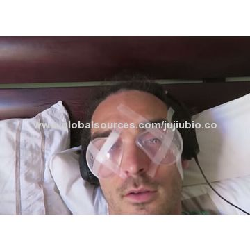 Medical plastic eye shields, used after an eye surgery