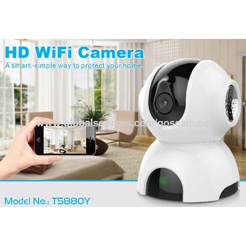 China 720P/1080P Pan&Tilt Wifi IP Camera for indoor use with Twao-way Audio and Motion Detector
