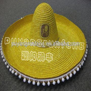 Wholesale straw hat/sombrero straw hat mexico/mini straw hat/high
