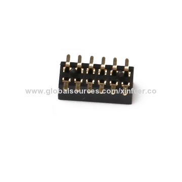China 1.0mm Female Headers, Dual-row, SMT Type, 500V AC Standing Voltage, 2.0mm Plastic Height