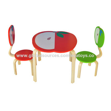 Wooden Childrenu0027s Table/Chair Sets China Wooden Childrenu0027s Table/Chair Sets  sc 1 st  Global Sources & China 2015 Apple Design Solid Wood Wooden Childrenu0027s Table/Chair ...