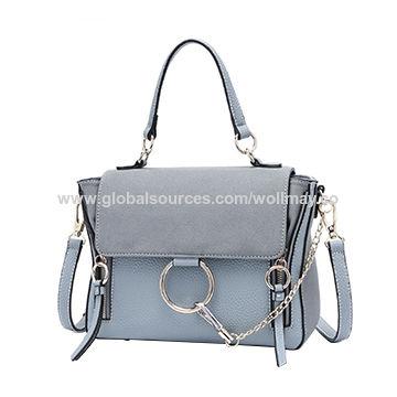 12e4fb564391 China 2018 new design fashion and elegant PU leather handbags with ...