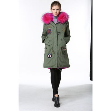 Wholesale women's garment with faux fur lining by fast delivery from garment supplier