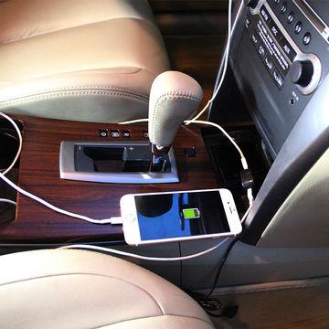 China Universal Dual USB Car Charger, 5V/2.4A, Mini Dual USB Port Car Charger