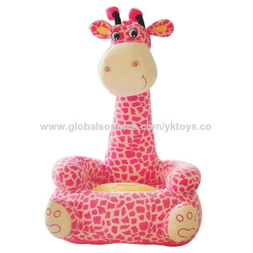 China Hot Sale Plush Giraffe Shaped Sofa Chair Soft Stuffed Kid