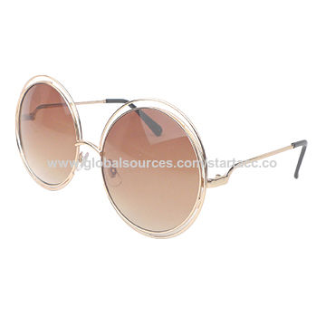 f01b37e9c423 China Women s Metal Sunglasses with Round Metal Frame