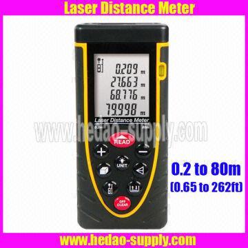 80m Laser Distance Meter Bubble Level Tool Rangefinder Rang