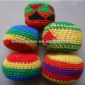 Promotional Hacky Sack Custom Crochet Hacky Sack Woven Kickballs
