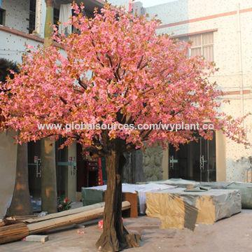 China 35 meters popular fiberglass artificial simulation pink artificial cherry blossom flower tree china artificial cherry blossom flower tree mightylinksfo