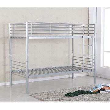 China Double decker metal bed frame, American Style Metal Bunk Bed ...