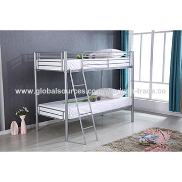 China Metal Bunk Bed Metal Bed Frame Queen High Quality For Adult On